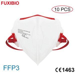 FUXIBIO 10 X neue und beste FFP3 Schutzmaske CE1463 Dreidimensionale Schutzmaske, hocheffiziente Filtration, fortschrittlicher Schutz