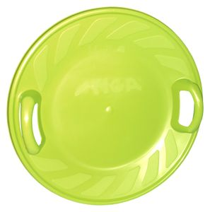 Snow Twister 60cm Tellerschlitten Rutschteller Rodelteller Kinderschlitten, Farbe:grün