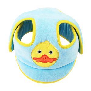 Baby Schutzhelm Babyhelm Helmmütze Kopfschutzmütze gegen Stöße Blau Karikatur Sicherheitsschutzkappe 22 cm x 23 cm