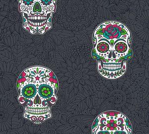 A.S. Création Vliestapete Club Tropicana Tapete bunt metallic schwarz 10,05 m x 0,53 m 358173 35817-3