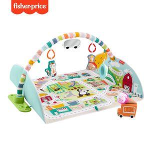 Fisher-Price Jumbo Abenteuer Spieldecke mit Spielbogen, Baby-Decke und Spielteppich