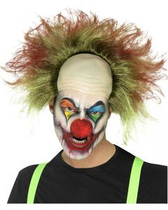 Horror Clown Perücke als blutiges Kostümzubehör für Halloween & Karneval