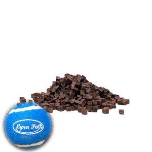 5 kg Lyra Pet® Pferdefleischwürfel + Tennis Ball
