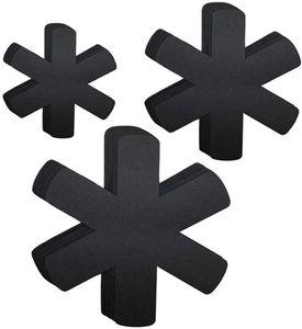 Premium Pfannenschoner Filz (12er Set) für Pfanne und Topf - Stapelschutz auch als Topfschoner - Pfannenschutz schwarz