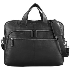 STILORD 'Lias' Businesstasche Leder Schwarz groß schwarz und elegant Bürotasche Aktentasche für Herren Damen 15,6 Zoll Laptoptasche Rindsleder