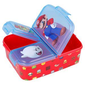 Super Mario Kinder Premium Brotdose Lunchbox Frühstücks-Box Vesper-Dose mit 3 Fächern