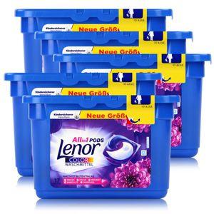 Lenor Allin1 Pods Amethyst Blütentraum Colorwaschmittel 17 WL (5er Pack)