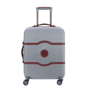 Delsey Chatelet Air 4-Rollen Kabinen Trolley Boardcase 55 cm 00 1672 803, Farbe:Silver