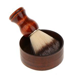 Holz Herren Borsten Rasierpinsel Rasieren Mug Schüssel Barber Bart Seifen