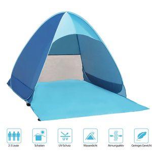 Strandmuschel und UV-Schutz,utomatisches Strandzelt für 2-3 Personen,Outdoor Tragbar Wurfzelt mit Tragetasche