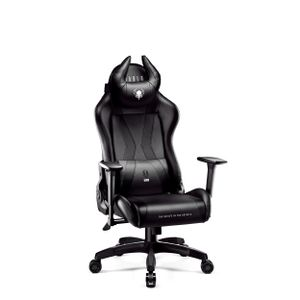 Diablo X-Horn Gaming Stuhl für Kinder Bürostuhl Schreibtischstuhl 3D Armlehnen Ergonomisches Design Nacken/- Lendenkissen Kunstleder Wippfunktion (schwarz, Kindergröße)
