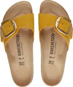 Birkenstock Madrid Big Buckle Nubukleder Damen Pantolette, Größe:38 EU