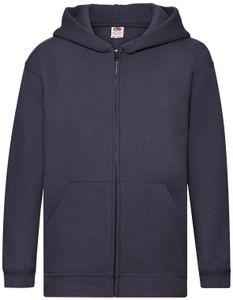 Fruit of the Loom Premium Hooded Sweat Jacket Kids, Farbe:deep navy, Größe:152