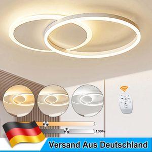 LED Decken Leuchte Deckenlampe 2 Ringe Design Dimmbar Wohn Ess Zimmer Lampe Warm/Neutral/Kaltweiß