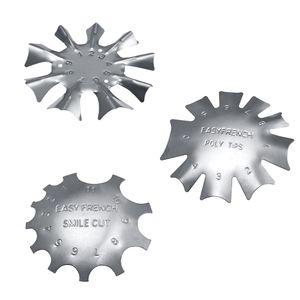3pcs 3 Größe Nailart Edge Trimmer Edelstahl Nail Art Schablone Cutter