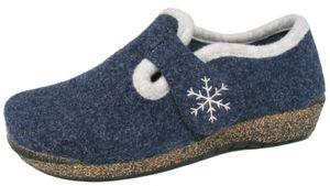 Fischer Damen Hüttenschuh 205620-501 jeansblau, Damen Größen:37, Farben:blau