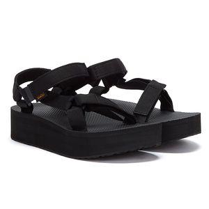 TEVA Sandale coole Damen Plateau-Schuhe Flatform Universal Schwarz, Größe:39