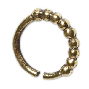 viva-adorno 1,0mm Nasenring Messing Nasenpiercing Piercing Hoop Ring Vintage Antik Gold verschiedene Designs Z516,D5