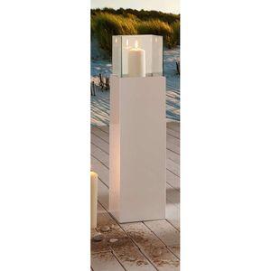 Windlichtsäule Bodenwindlicht Kerzenhalter Wohnzimmerdeko Glossy 80 cm