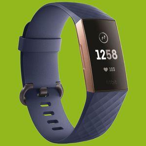 Für Fitbit Charge 3 / 4 Kunststoff / Silikon Armband für Frauen / Größe S Navy-Blau Uhr