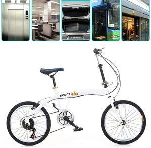 Klapprad 20 Zoll Faltrad Weiß Klappfahrrad 7 Gang Fahrrad Doppel V Bremse Faltrad Folding Bike Fahrrad Campingrad