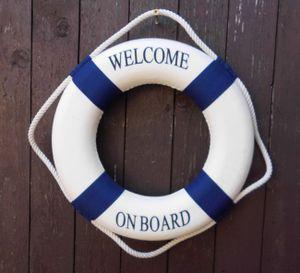 Rettungsring maritime Wand-Deko Welcome On Board Meer Küste 35 cm