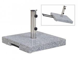 Siena Garden Sonnenschirmständer Trolley eckig Granit 45kg Ø 25-48mm