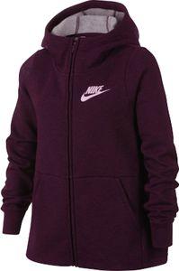 Nike Mädchen Sport Freizeit Kapuzen Jacke G NSW HOODIE FZ PE bordeaux, Größe:M(140-152)