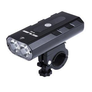 USB Wiederauf ladbare Fahrrad Front licht Wasserdicht 6 LED MTB Rennrad Weiße Farbe