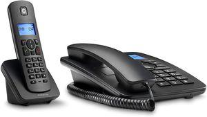 Motorola C4201 Black Combo Landline Telephone & Cordless Telephone