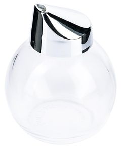 Contacto Zuckerstreuer Kugel, 280 ml, Ø 8,5 x 11 cm, verchromte Kunststoffkappe/glattes Pressglas, Glas spülmaschinengeeignet