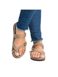 Damen Flache Schuhe Atmungsaktive Schuhe Mode Strandschuhe,Farbe:Beige,Größe:37