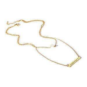 Mllaid MEALGUET personalisierte geschichteten ecklace, Edelstahl personalisierte Name Initial Gold graviert Bar Disc Choker Schichtung ecklace Set Geschenk