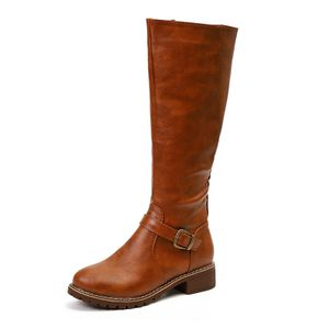 Seitlicher Reißverschluss Stiefel mit hohem Bein Stiefel mit niedrigem Absatz und quadratischem Absatz,Farbe: Gelb,Größe:39