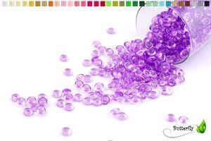 ca.100g Tautropfen 7mm, Farbauswahl:lila / purpur 465