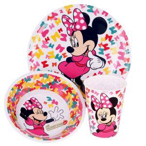 Geschirr-Frühstück-Set Mouse | Minnie Maus | Teller, Schüssel und Becher
