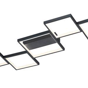 Trio LED Deckenleuchte Sorrento in Schwarz-Matt und Weiß 34w 3400lm