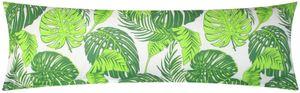 Baumwoll Renforcé Seitenschläferkissen Bezug 40x145cm - Tropische Blätter in grün - 100% Baumwolle Stillkissenbezug (KY-510-1)