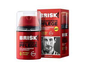 Brisk Feuchtigkeitspflege für geschmeidige Männerhaut 50 ml mit Malz Extrakt