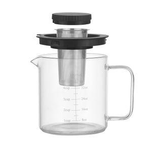 Glas  Kaffeemaschine Presskanne Hohes Borosilikatglas Teebereiter Kaffeekanne 1.2L
