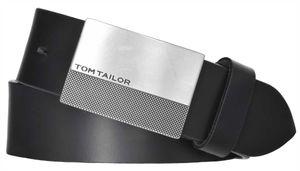 TOM TAILOR Gürtel Ledergürtel Herrengürtel Herrenledergürtel Schwarz 8046, Länge:110, Farbe:Schwarz