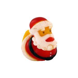 Gummi-Ente Weihnachtsmann, Badeente, Quietscheente