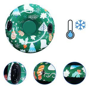 Umweltfreundliche PVC Aufblasbare Ski Ring Snowflake Drucken Schnee Rohr Kreis Schlitten Schwebte Schlitten Bord Winter Skifahren