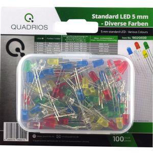 Standard LED-Sortiment Bunt Farbig 5 mm Leuchtdioden und Doku (100 Stück)