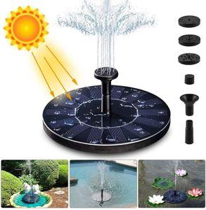 Solar Springbrunnen, 1.4W Solar Teichpumpe mit 4 Effekte | Maximum 70cm Höhe Solar Wasserpumpe | Solar schwimmender Fontäne Pumpe für Gartenteich Oder Fisch-Behälter Springbrunnen Vogel-Bad