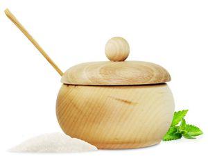 Handgemachte Zuckerdose mit Deckel  Salzdose Vorratsdose mit Holzlöffel