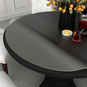 Tischdecke Tischschutz hochwertig Tischfolie Matt Ø 120 cm 2 mm PVC
