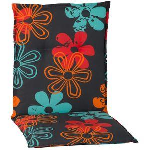 Gartenstuhl-Auflage Barcelona – Niedriglehnerauflage für Gartenstühle, Dessin:Prilblume, Anzahl:4er Set