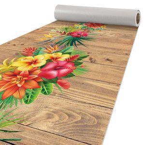 Läufer Küchen Teppich abwischbar Textil + PVC rutschfest Tropik Mehrfarbig 50x200cm