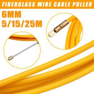 25M Draht Kabel Fiberglas Einziehspirale Kabelzieher Einziehband 6mm DE